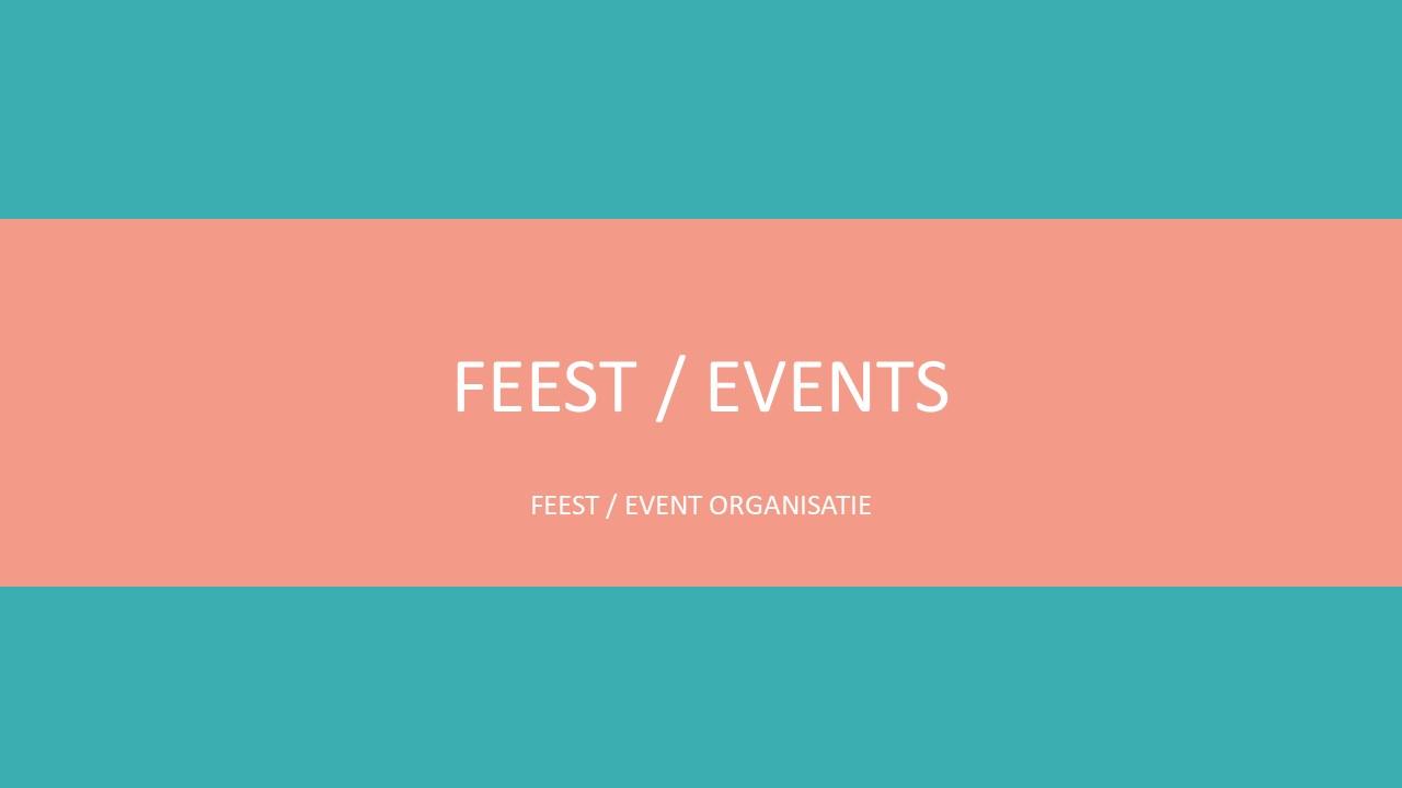 Personeelsfeest en events