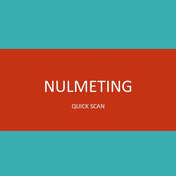 Nulmeting scan