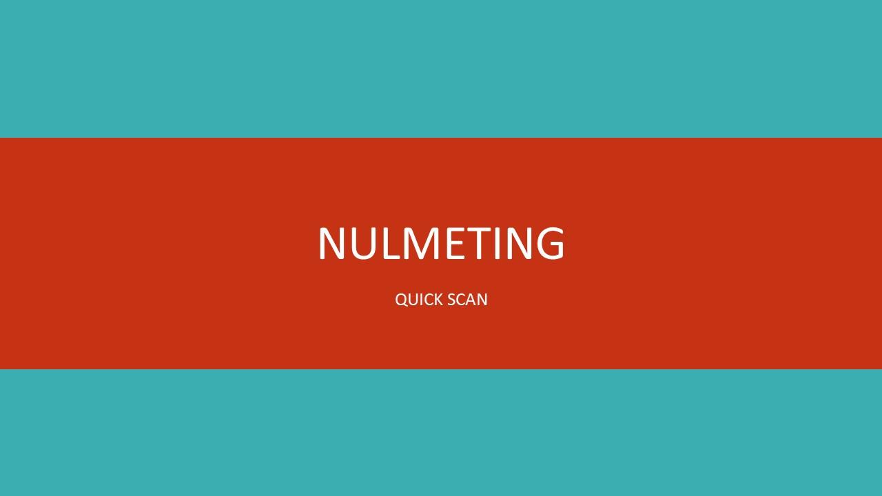 Nulmeting scan
